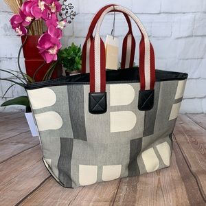 NWT BALLY Boothbay Tote Signature Canvas